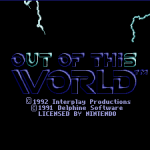 Out of This World - Title Screen (SNES)
