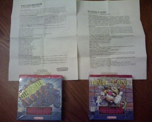 Official Spanish instructions for Wario Land and Teleroboxer